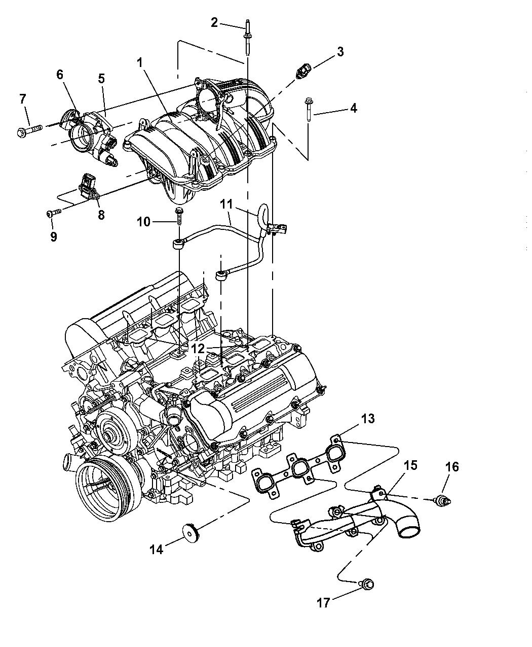 2003 Dodge Ram 1500 Manifolds - Intake & Exhaust - Thumbnail 1