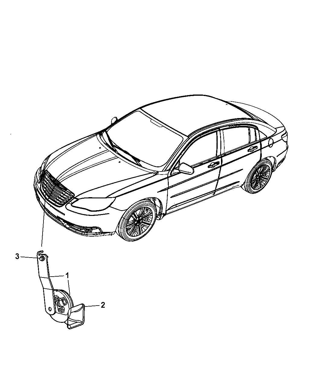 2012 Chrysler 200 Horns
