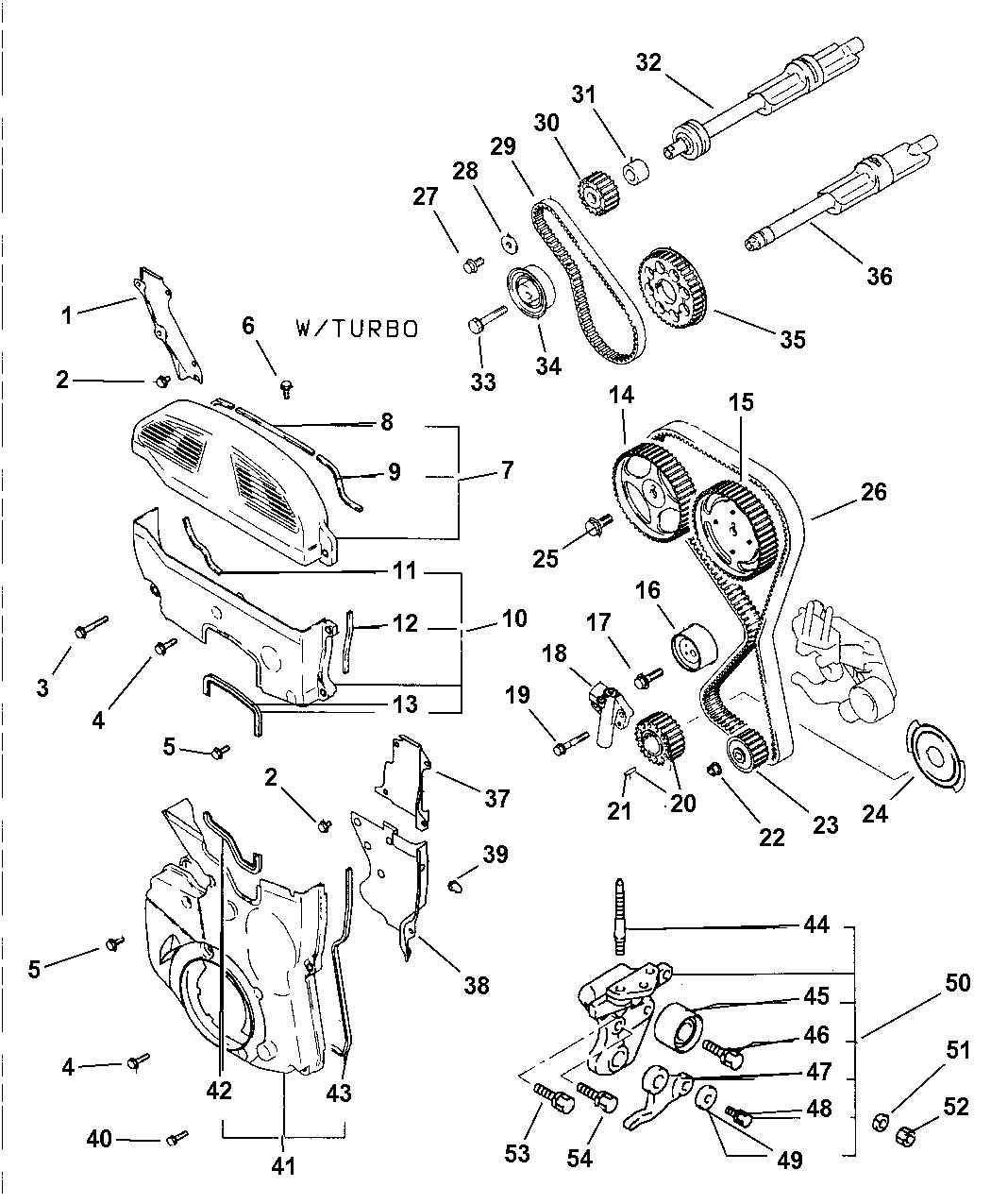 1997 Dodge Avenger Timing Belt, Cover And Balance Shafts - Thumbnail 1