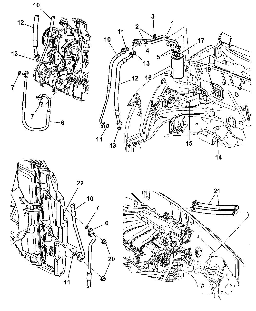 5278560AC - Genuine Chrysler LINE-A/C SUCTION