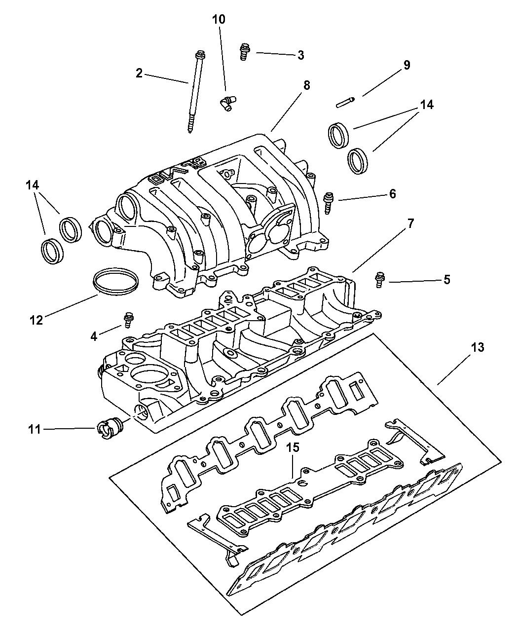53031583 Genuine Dodge Manifold Intake