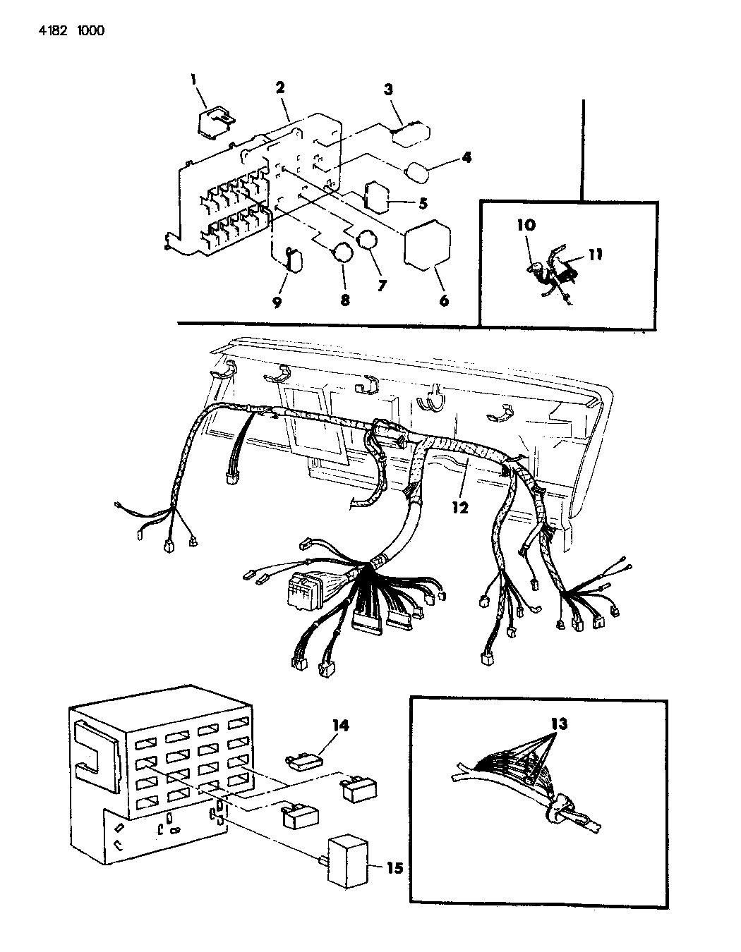 1984 chrysler lebaron instrument panel wiring