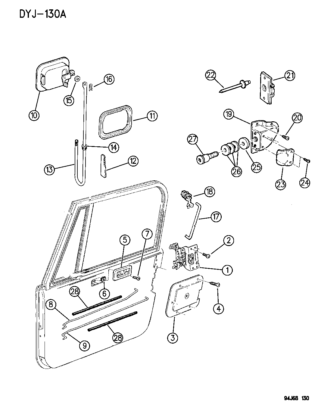 55074949 Genuine Mopar Latch Full Door Lh