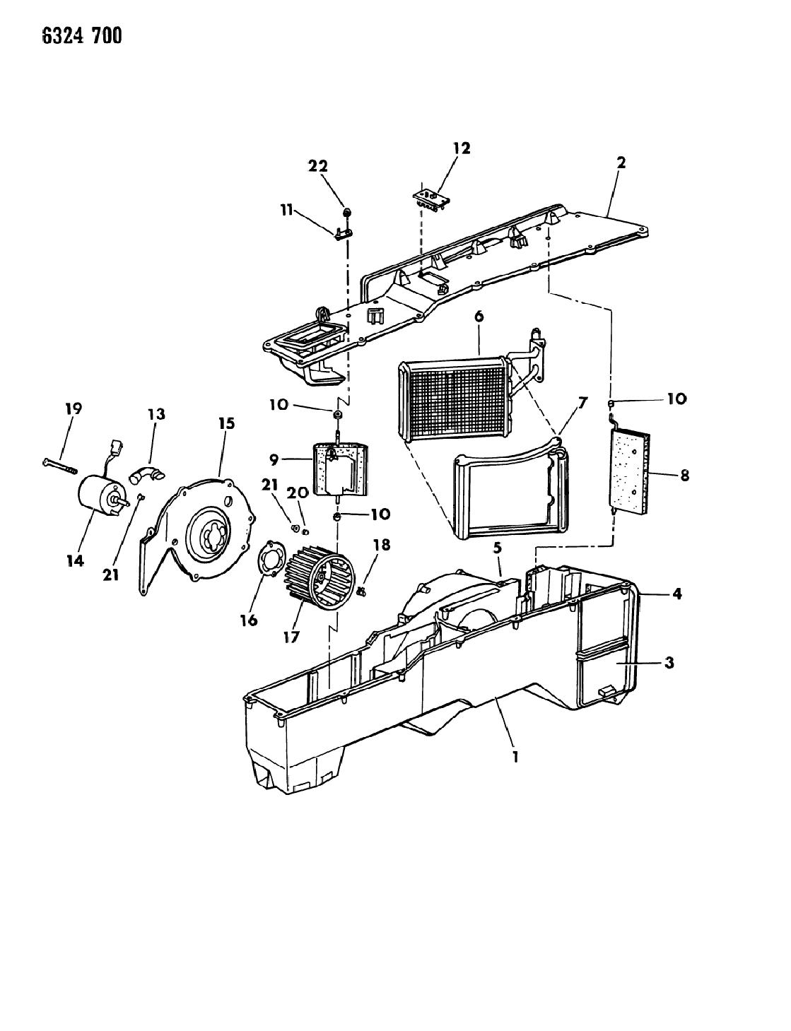 1987 dodge d150 heater unit