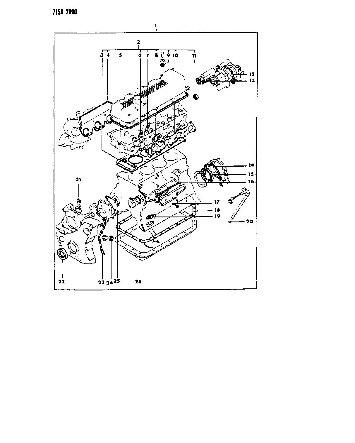 1987 chrysler new yorker engine gasket sets