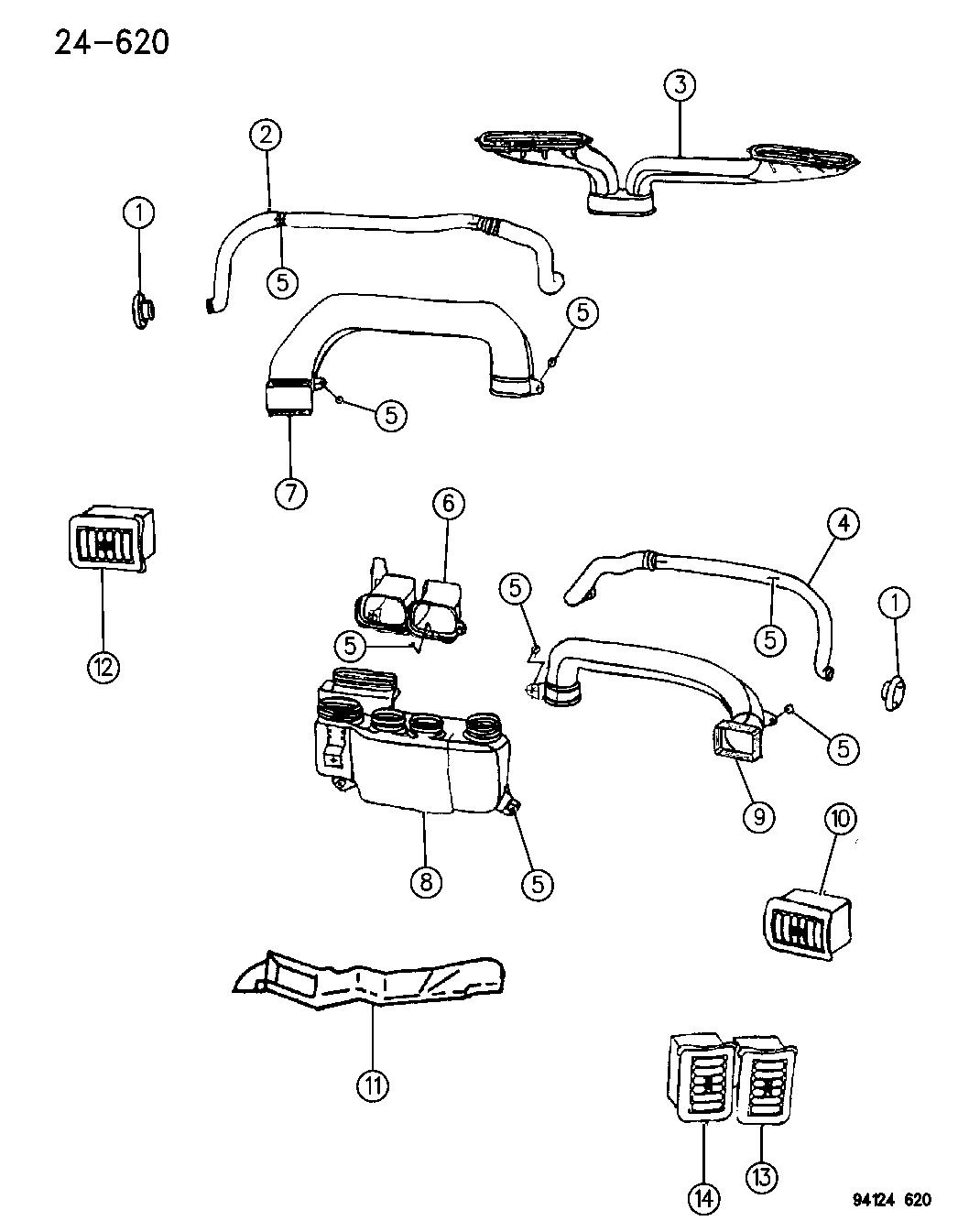 P283LM6  Genuine    Chrysler    OUTLETAIR LEFT CENTER