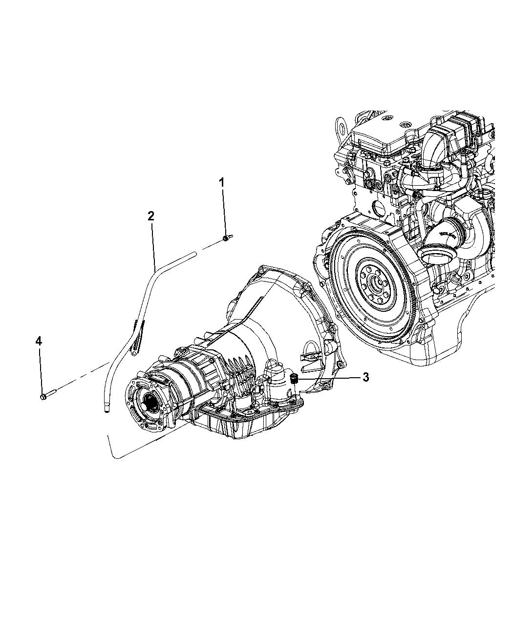 Genuine Mopar Tube-Transmission Oil Filler 53032630AC