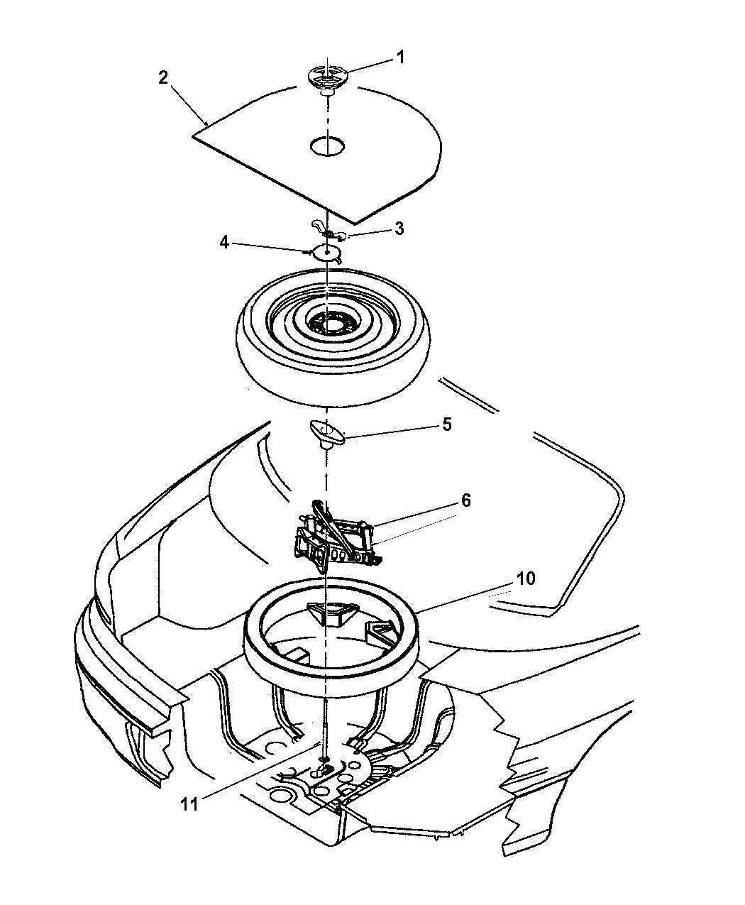 2000 Chrysler 300m Jack Spare Tire Stowage Mopar Parts Giant Timing Belt
