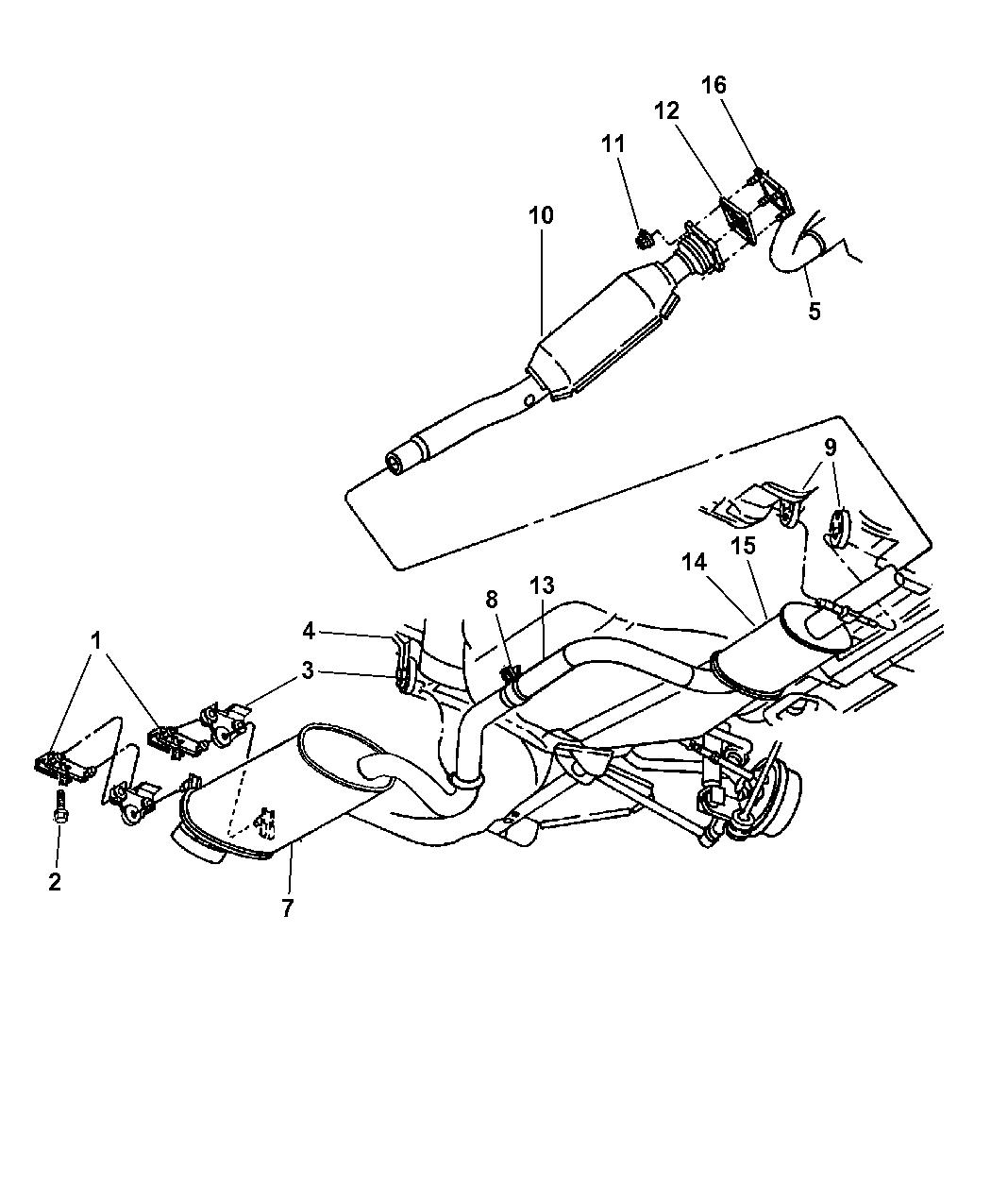 Genuine Chrysler 4764319AC Exhaust Muffler