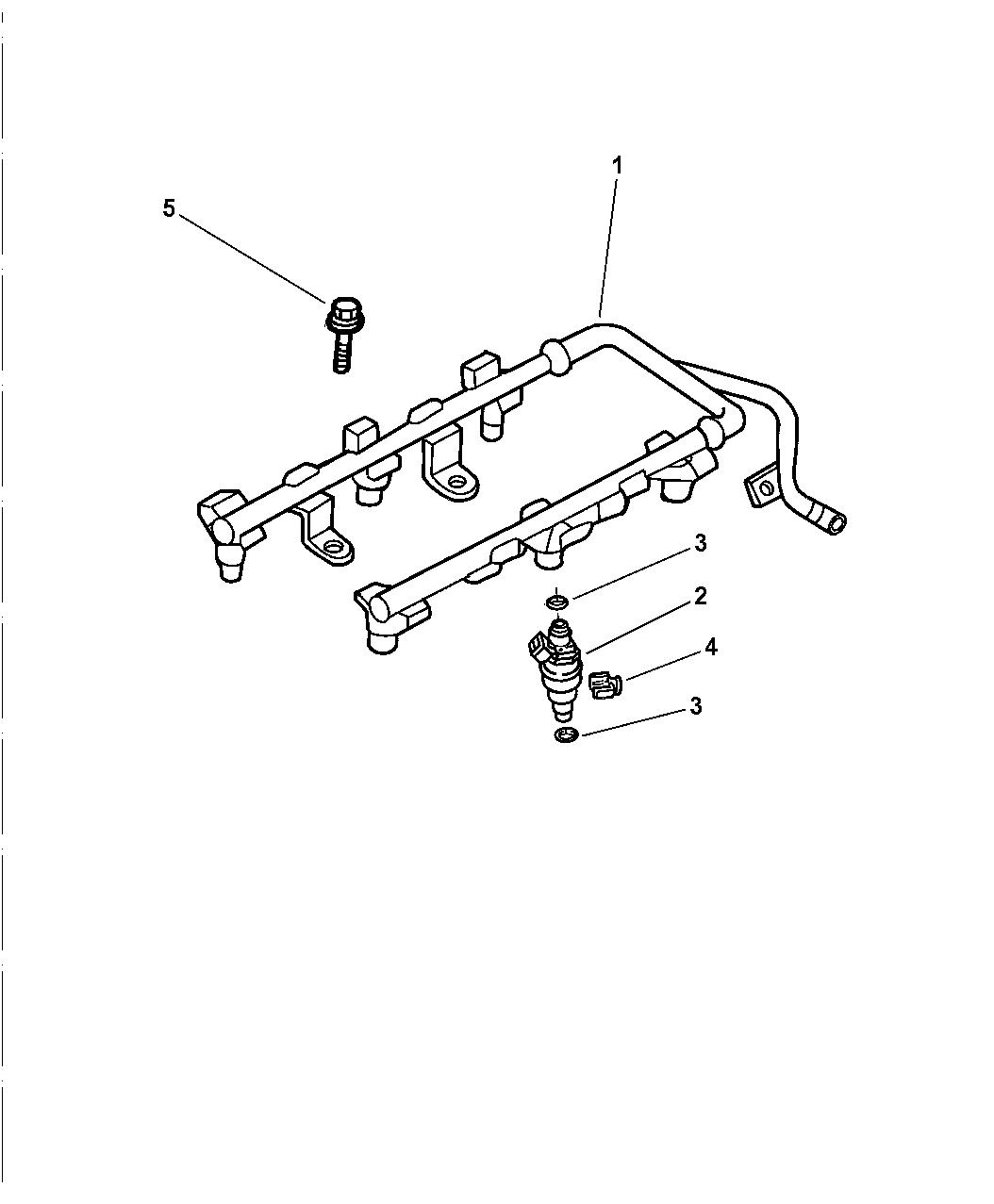 1999 Dodge Intrepid Fuel Rail