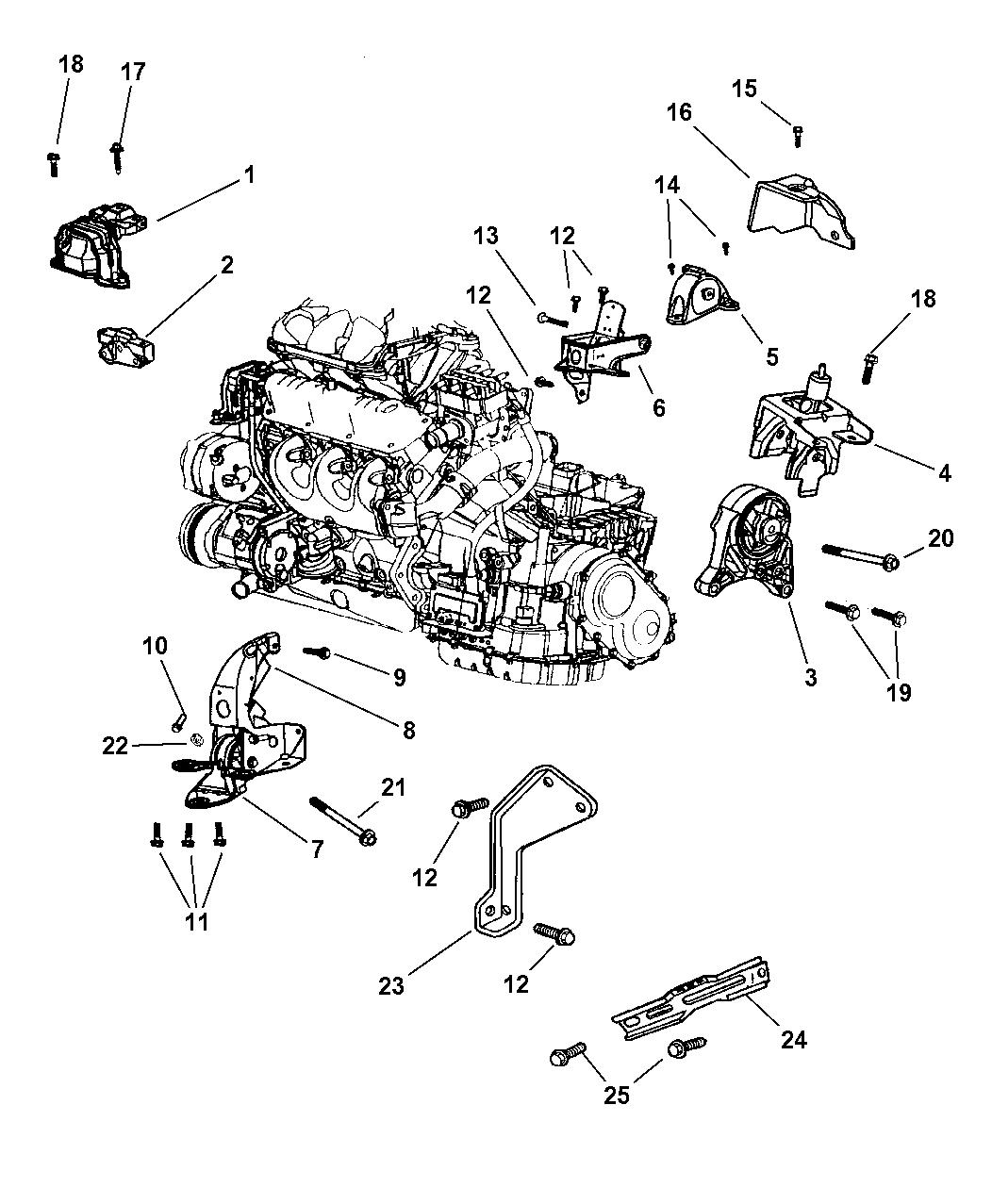 2001 Chrysler Voyager Engine Mounts - Thumbnail 2