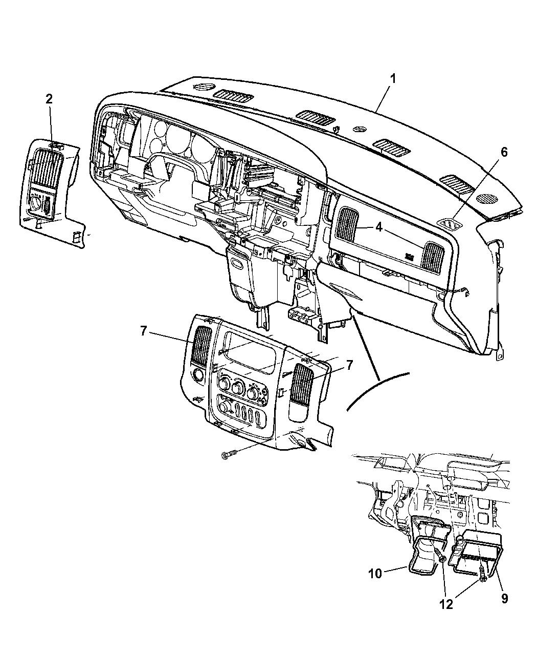 97 dodge ram 1500 wiring diagram 2003 dodge ram 1500 air ducts - mopar parts giant 97 dodge ram hvac diagram