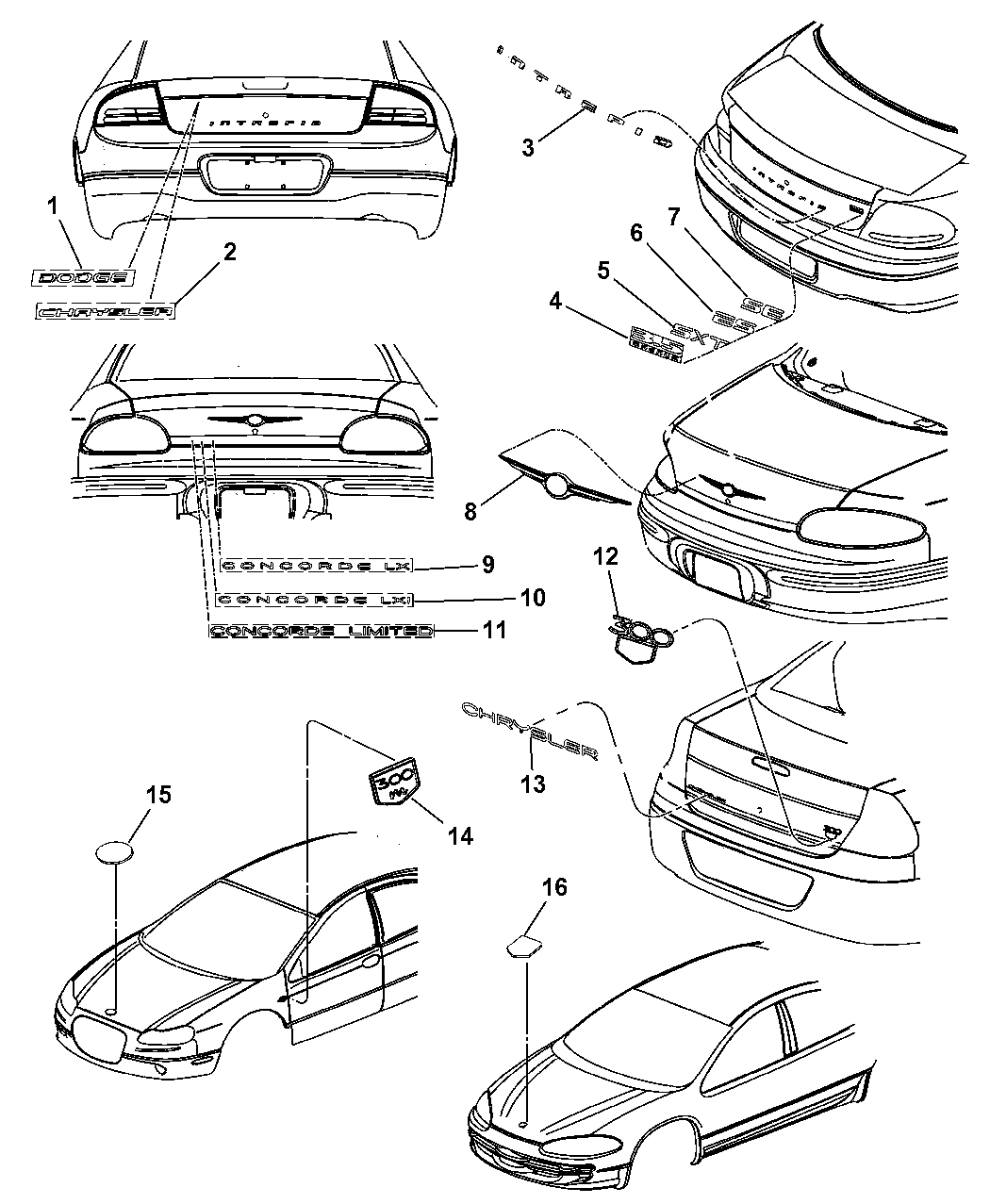 Chrysler Genuine 4805286AC Deck Lid Ornament