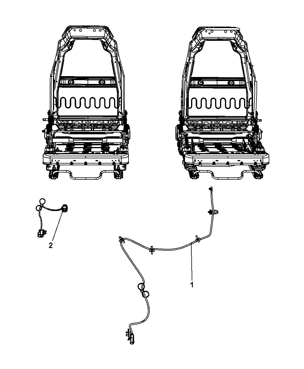 2007 jeep wrangler wiring seats mopar parts giant. Black Bedroom Furniture Sets. Home Design Ideas