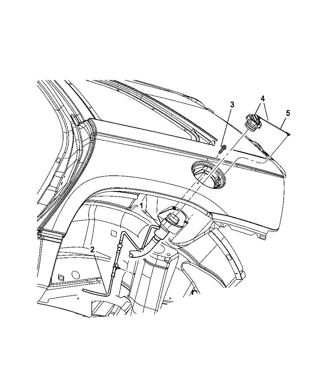 2006 Chrysler Pacifica Fuel Tank Filler Tube