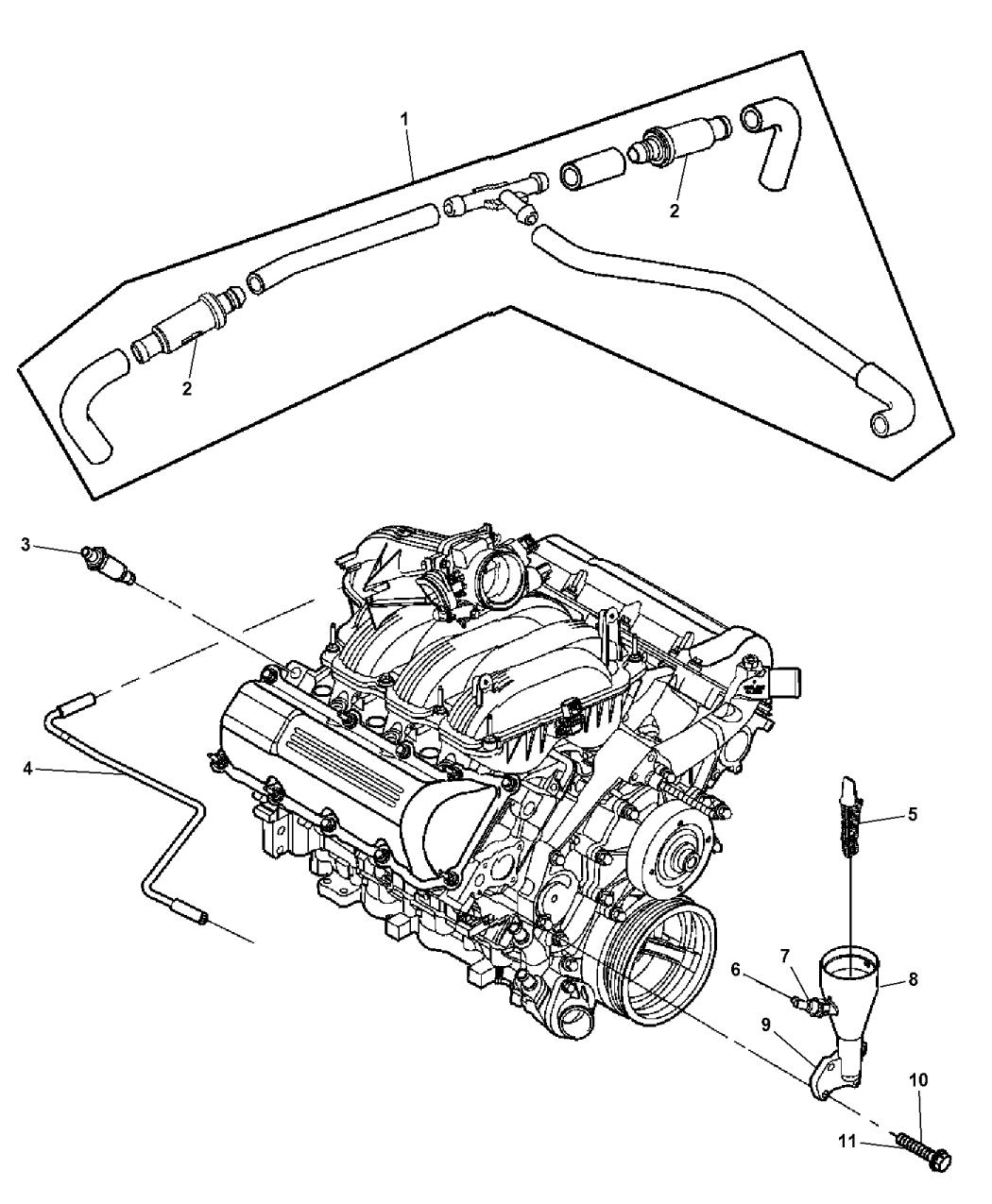 Genuine Chrysler 53032818AE Crankcase Vent Hose