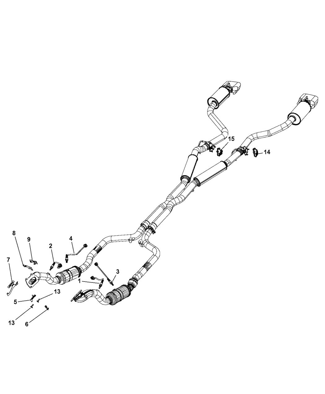 2015 dodge challenger oxygen sensors  u0026 exhaust actuators