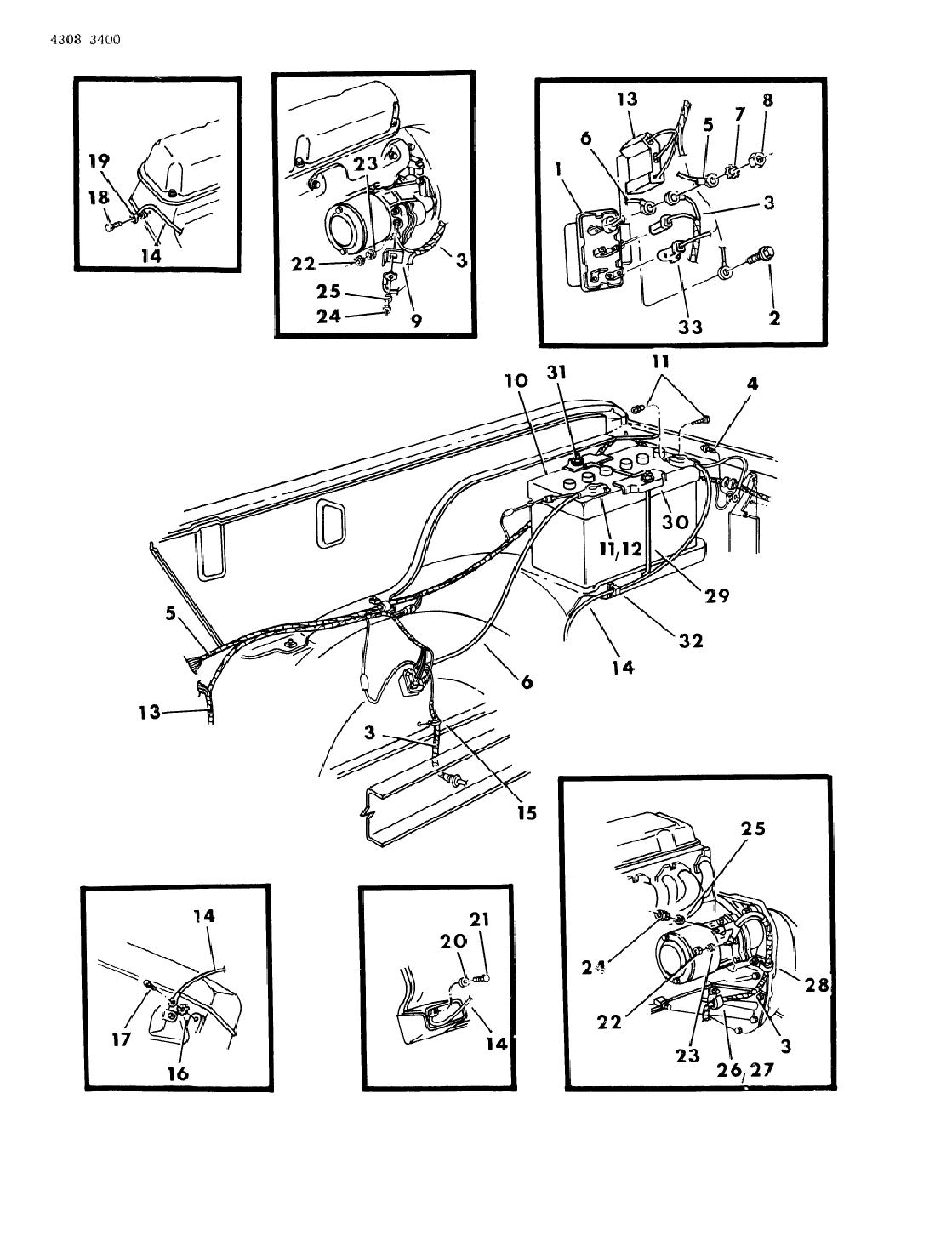 1985 Dodge D150 Wiring - Battery & Starter