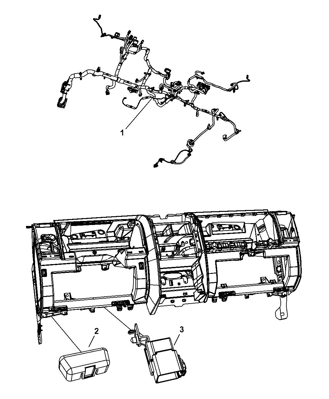 2008 dodge nitro wiring instrument panel