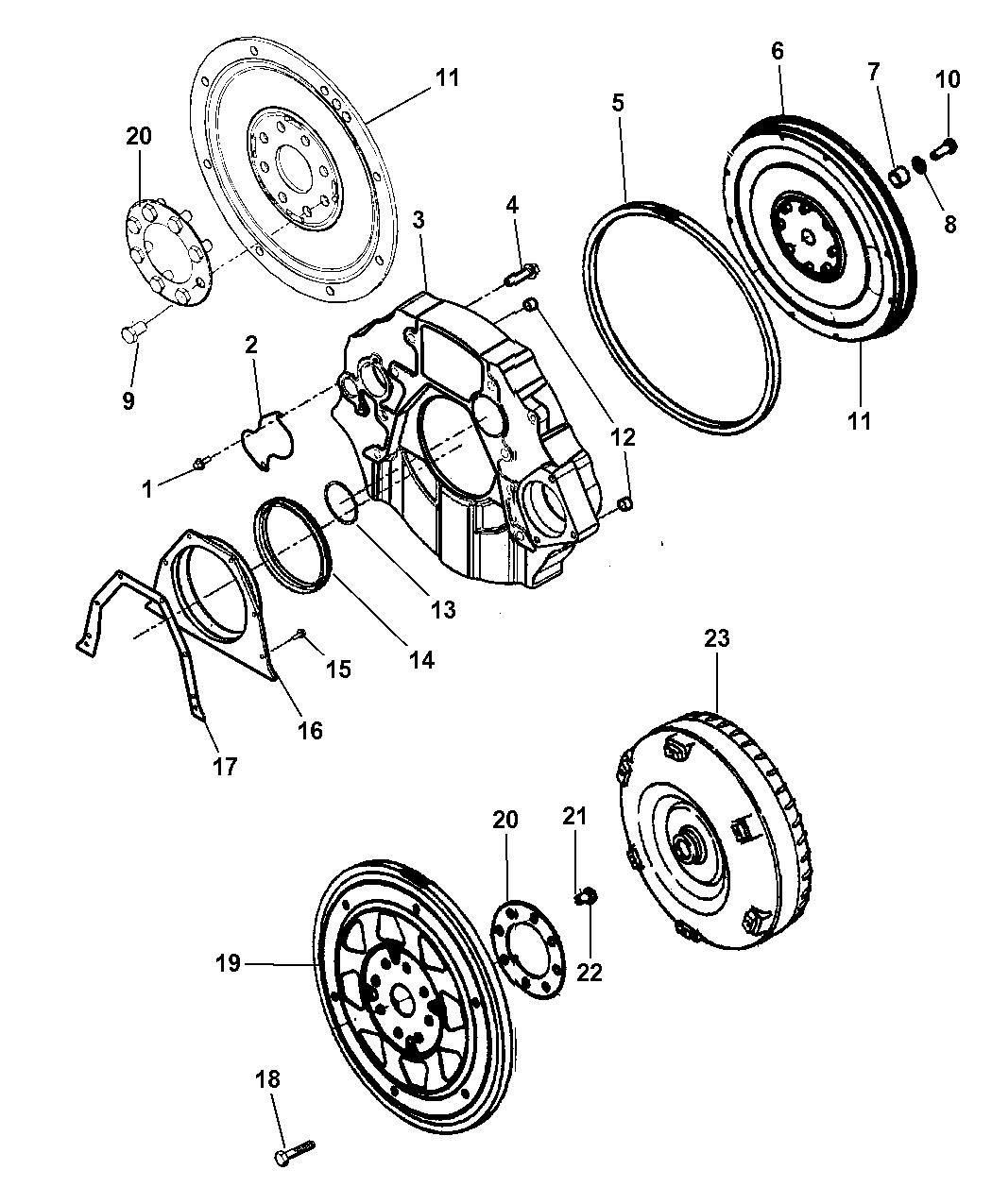 2008 Dodge Ram 5500 Flywheel And Torque Converter