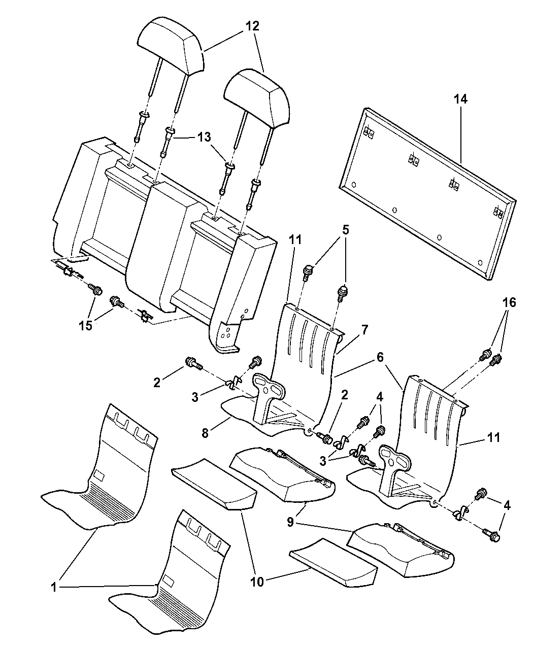 2000 chrysler town \u0026 country child seat reclining 2006 Chrysler Town and Country Parts Diagram