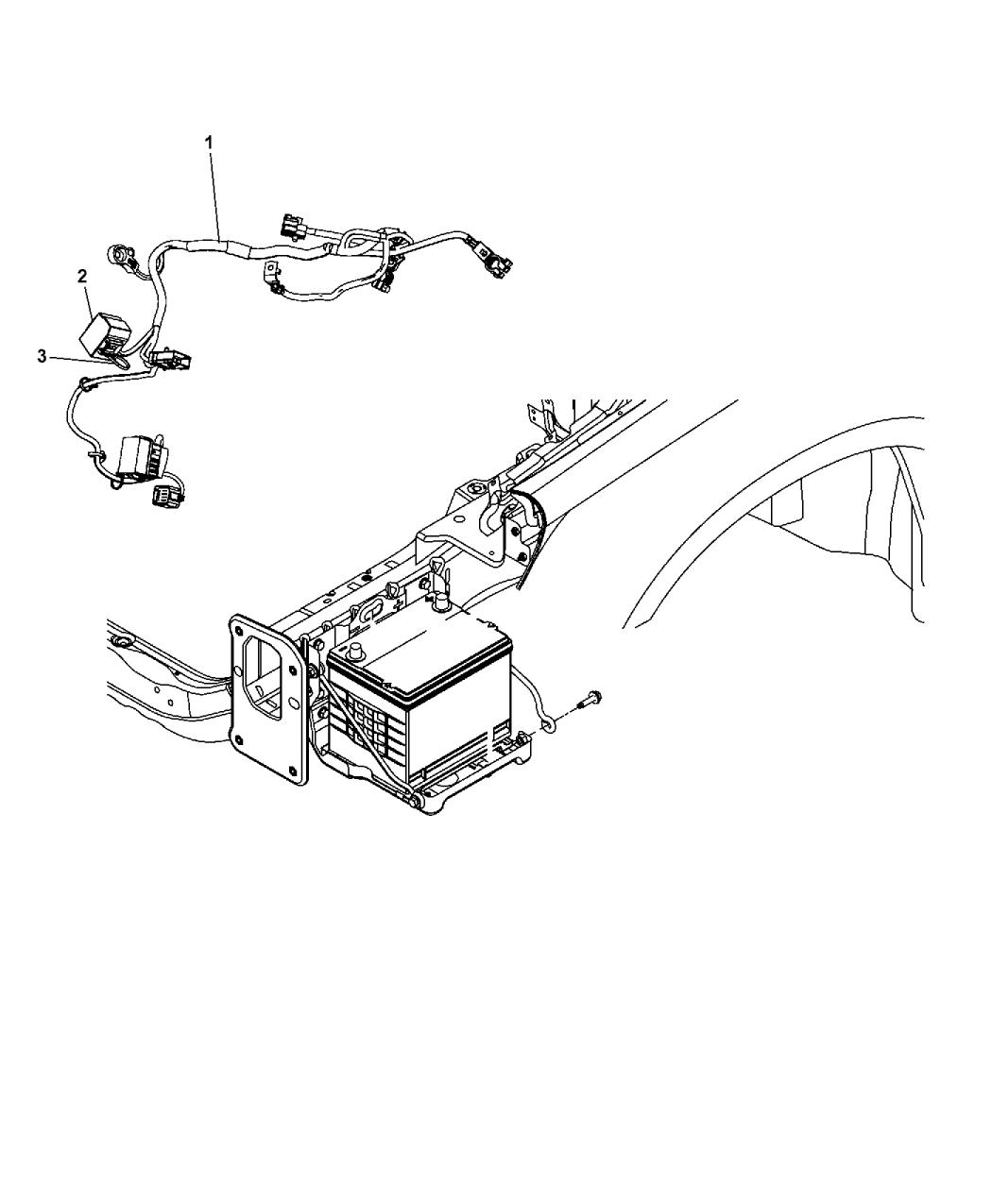 68086309ac genuine mopar wiring battery. Black Bedroom Furniture Sets. Home Design Ideas