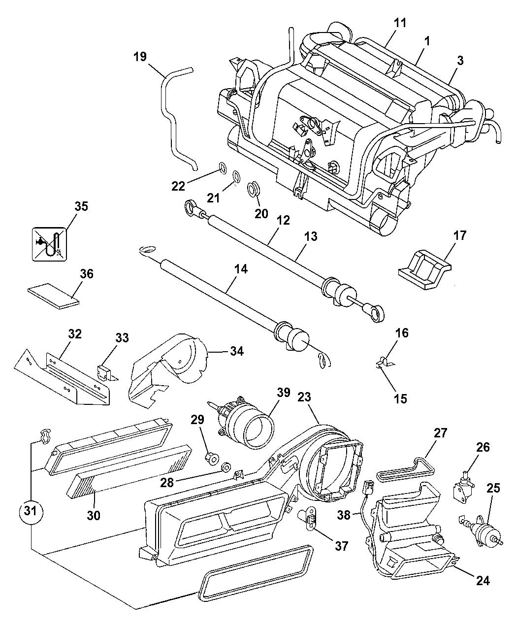 2005 Dodge Sprinter 2500 HEVAC Unit - Mopar Parts Giant