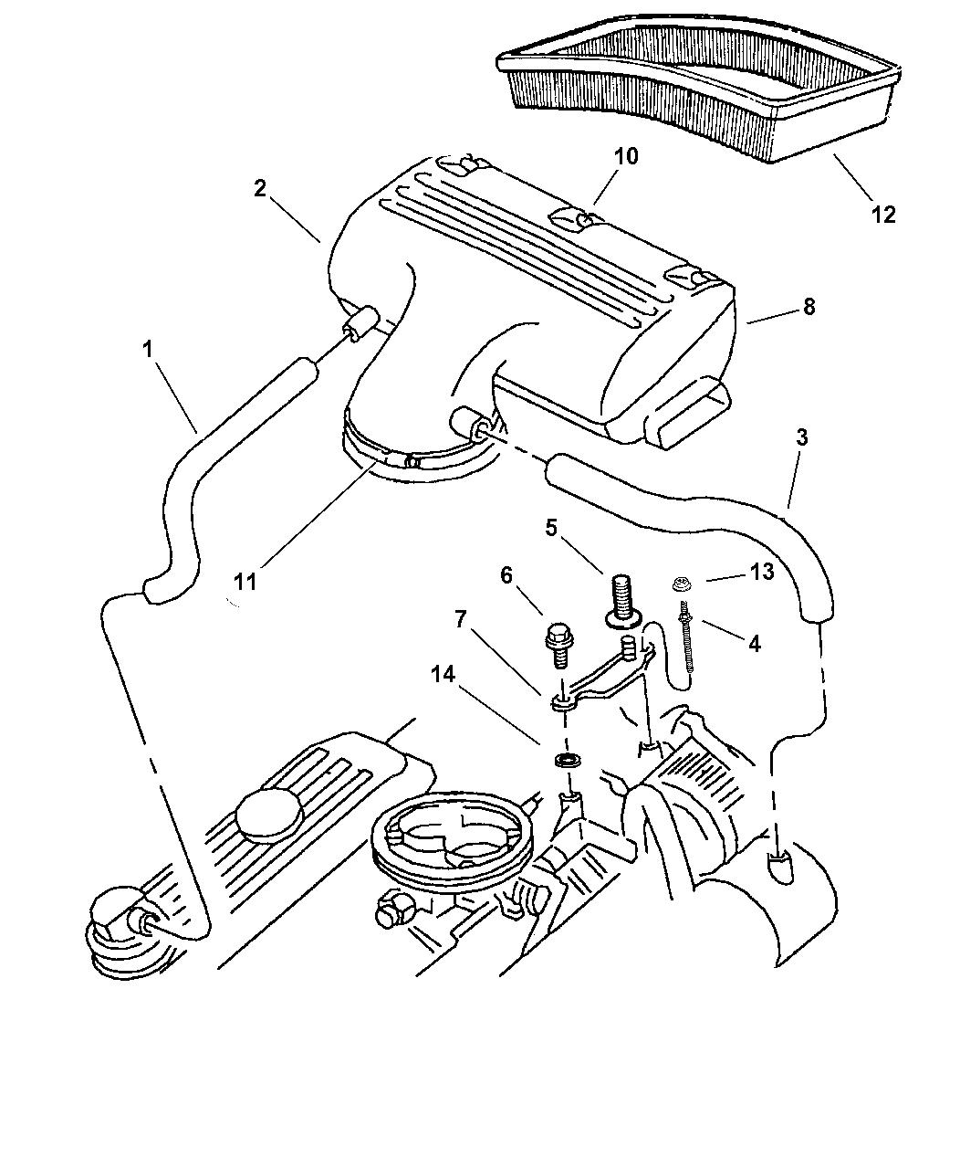 53030817 - Genuine Mopar HOSE-CRANKCASE VENT