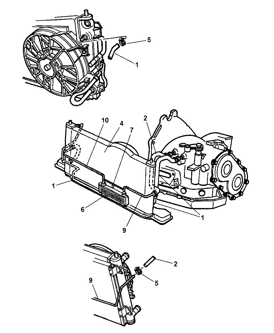 2000 chrysler sebring convertible transmission oil cooler