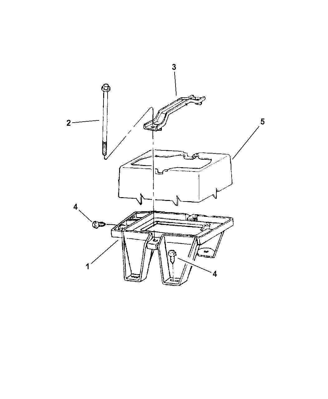 1997 Jeep Grand Cherokee Battery Tray
