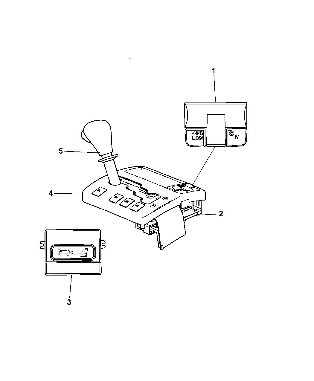 2008 Jeep Commander Shifter & Controls