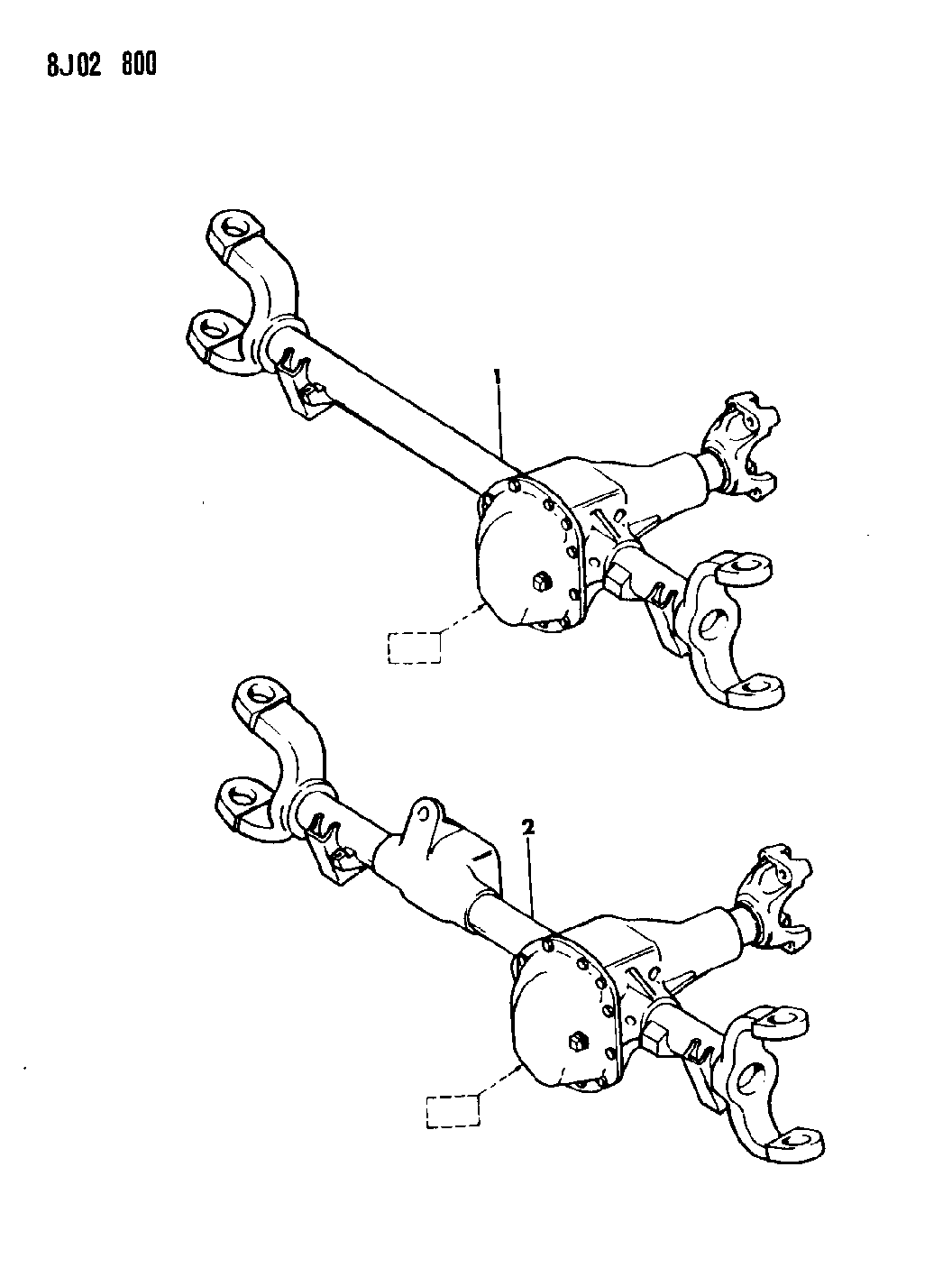 1988 Jeep Wrangler Axle Assembly  Front