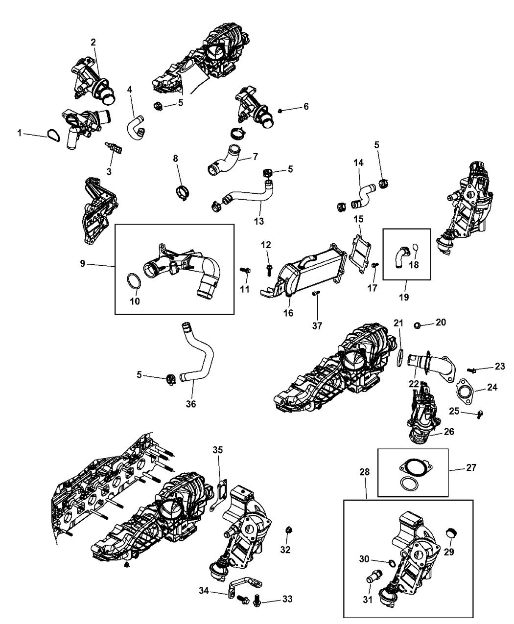 2012 jeep wrangler egr valve