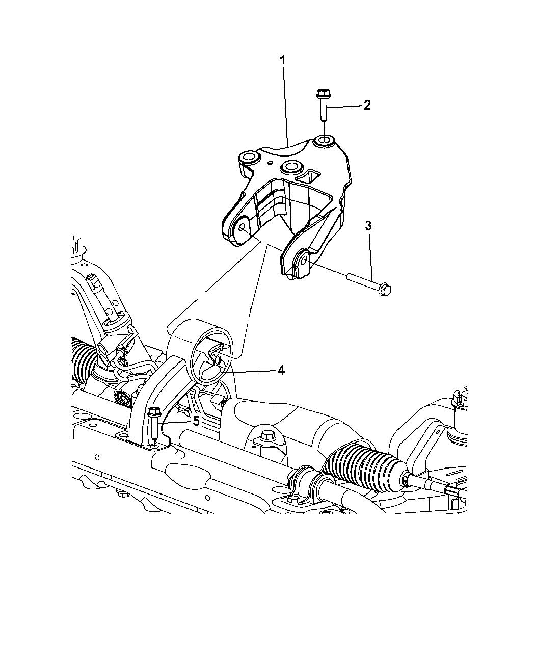 Engine Mount Rear Mopar 68100895AB