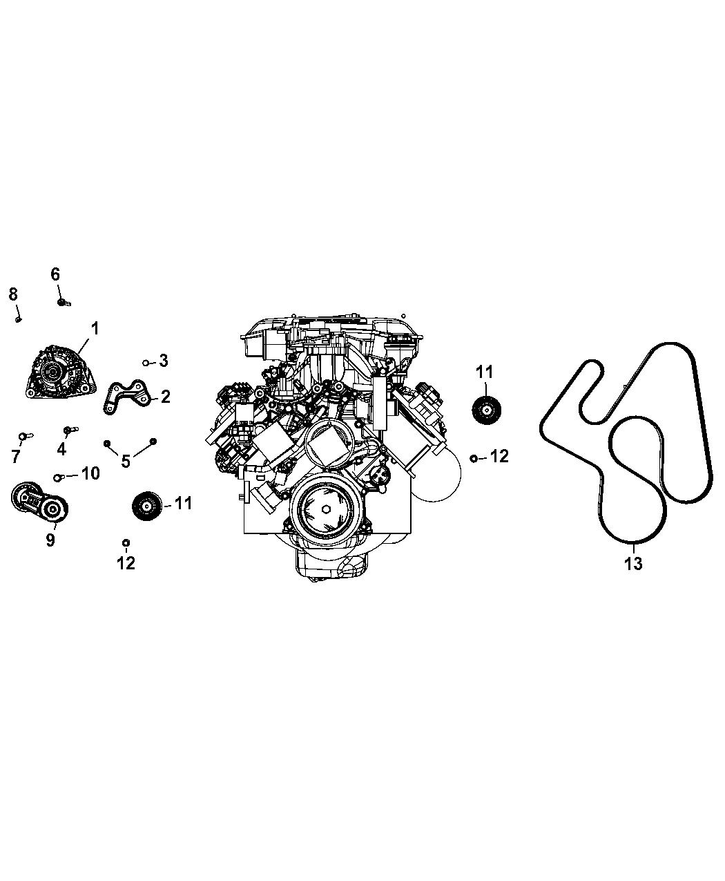 4593852AB - Genuine Mopar BELT-SERPENTINE