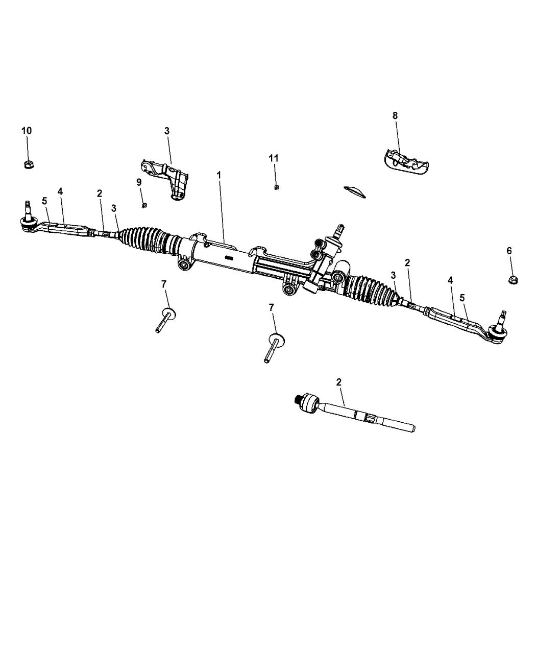 Genuine Chrysler 68028824AC Steering Tie Rod End