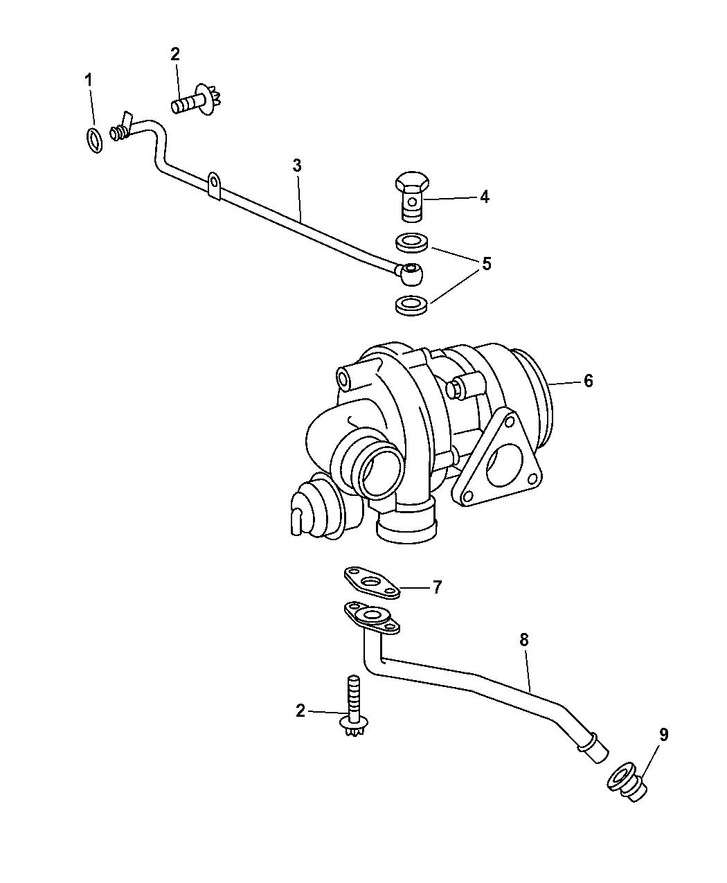 2006 chrysler pt cruiser turbo oil return lines 2006 Hyundai Santa Fe Engine Diagram