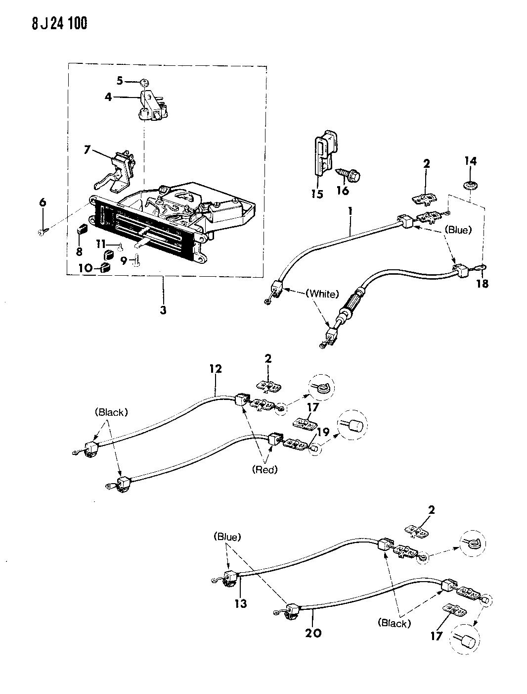 1989 Jeep Wrangler Controls Heater Fresh Air Engine Diagram