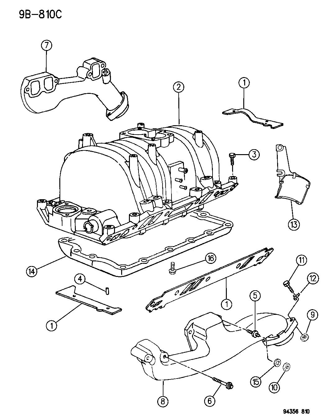 1996 dodge dakota manifold intake \u0026 exhaust mopar parts 2000 Dodge Dakota Engine Diagram