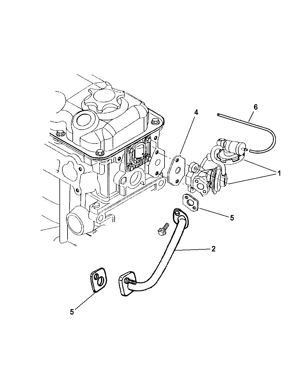 1997 Dodge Neon EGR System
