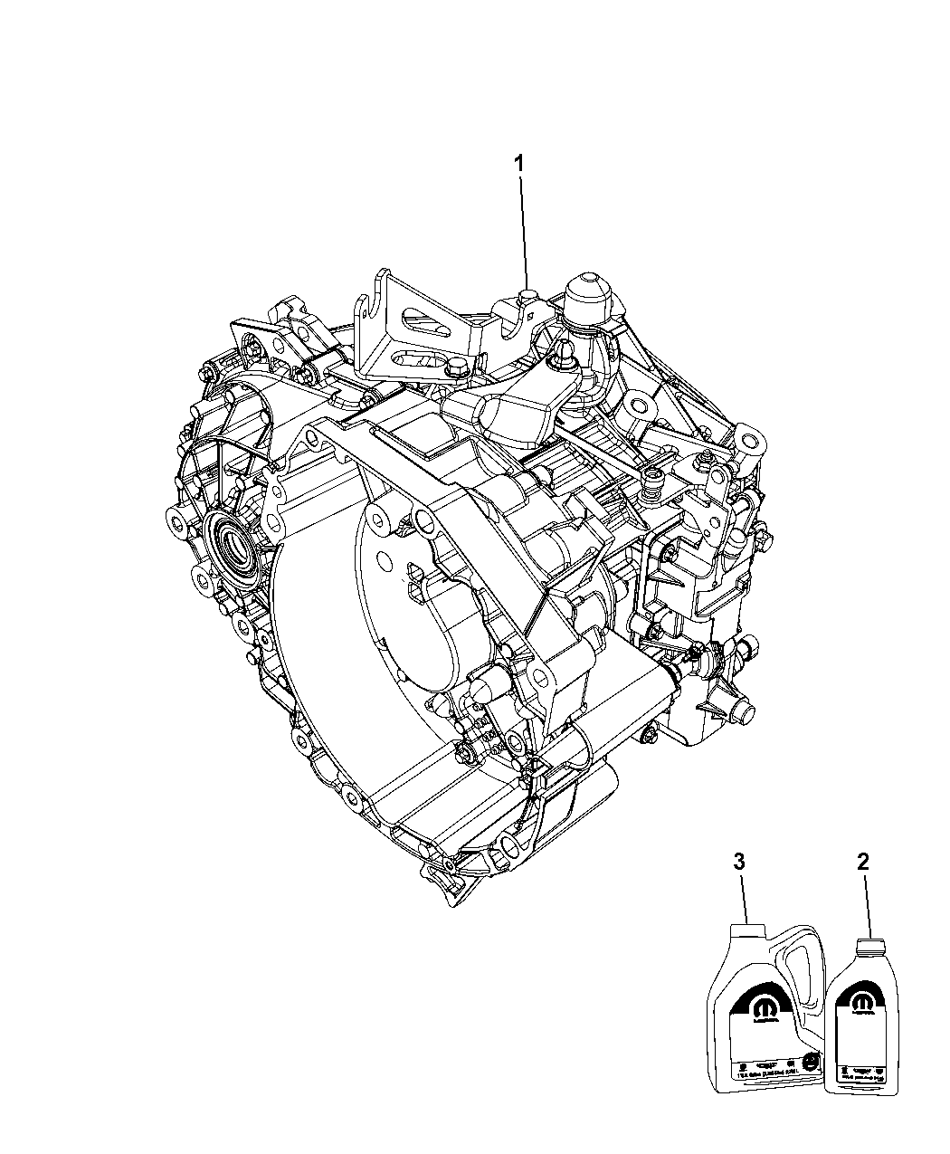 2013 Dodge Dart Transmission / Transaxle Assembly of