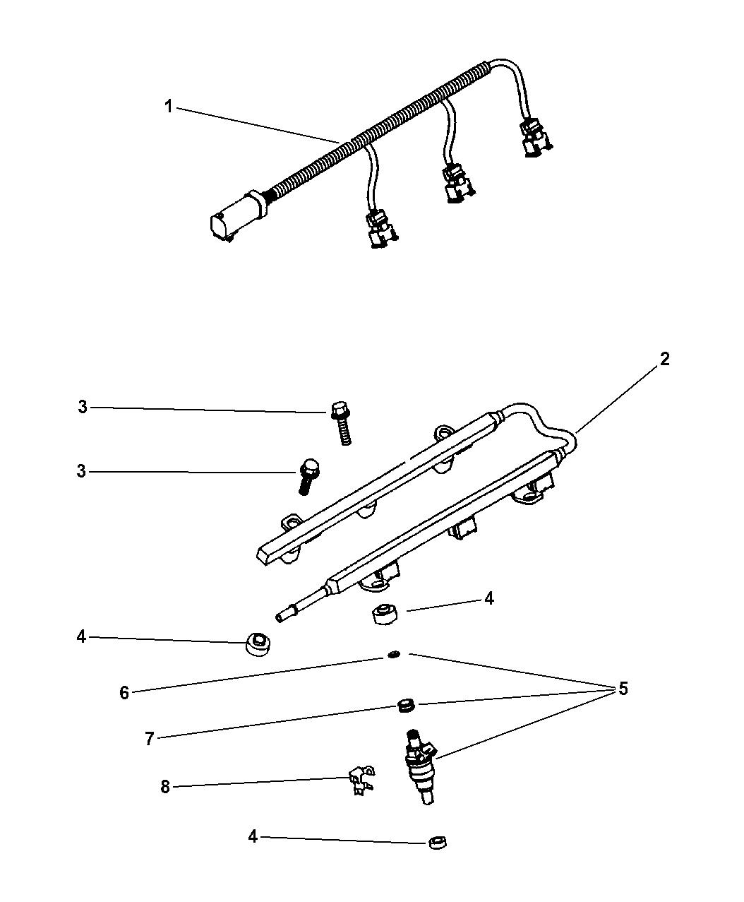 2000 Dodge Stratus Fuel Rail Mopar Parts Giant Pump Wiring Diagram Thumbnail 1