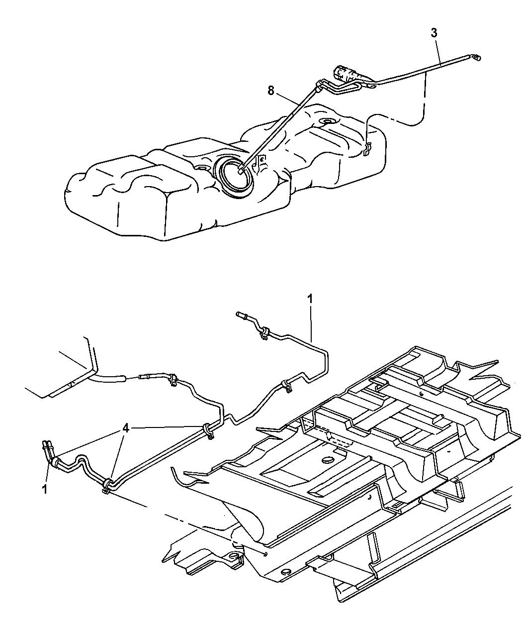 2004 Dodge Caravan Fuel Line Mopar Parts Giant Engine Schematics