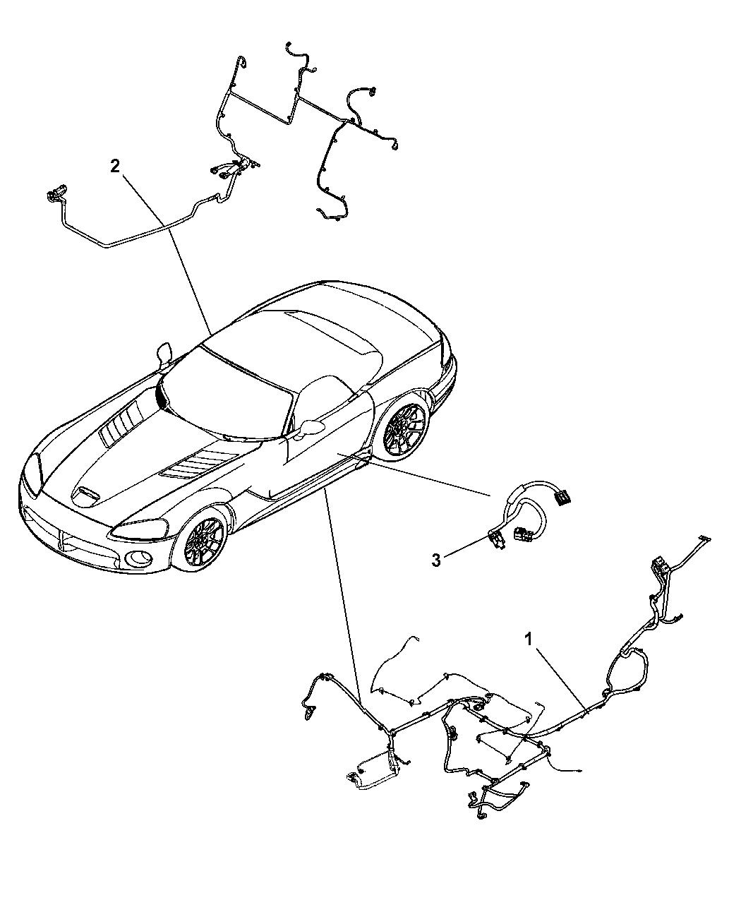 wiring diagram for 1995 dodge viper 5030736ad - genuine mopar wiring-underbody trailer 7 pole wiring diagram for 1995 gmc 1500