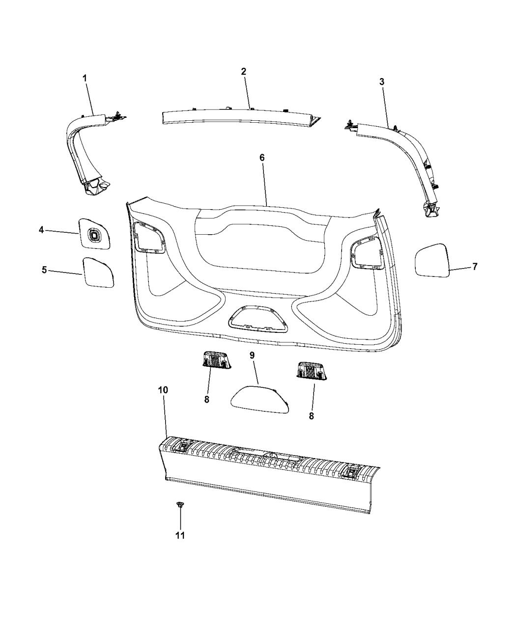 Genuine Chrysler LAMP-LIFTGATE