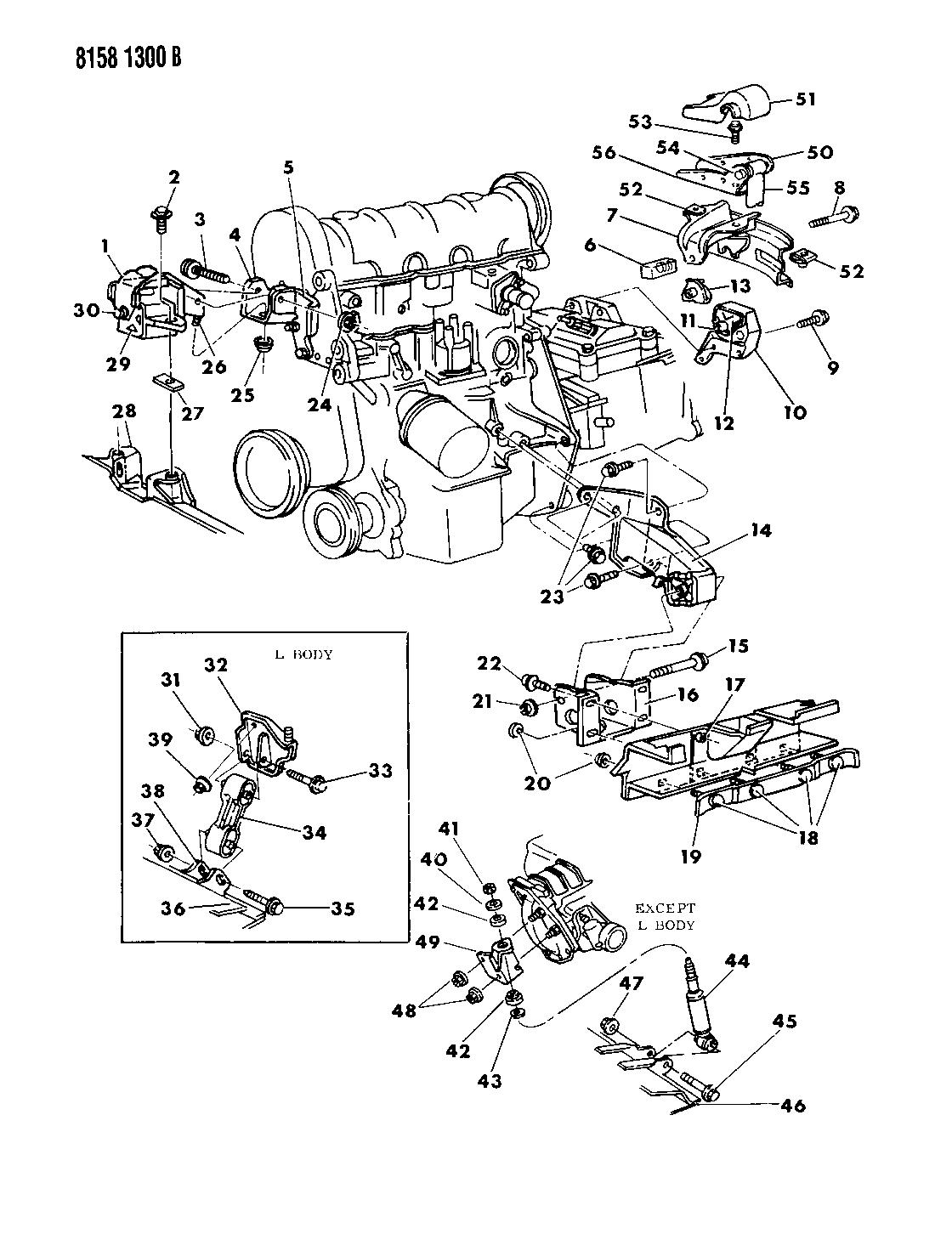 1988 chrysler lebaron premium engine mounting - thumbnail 1