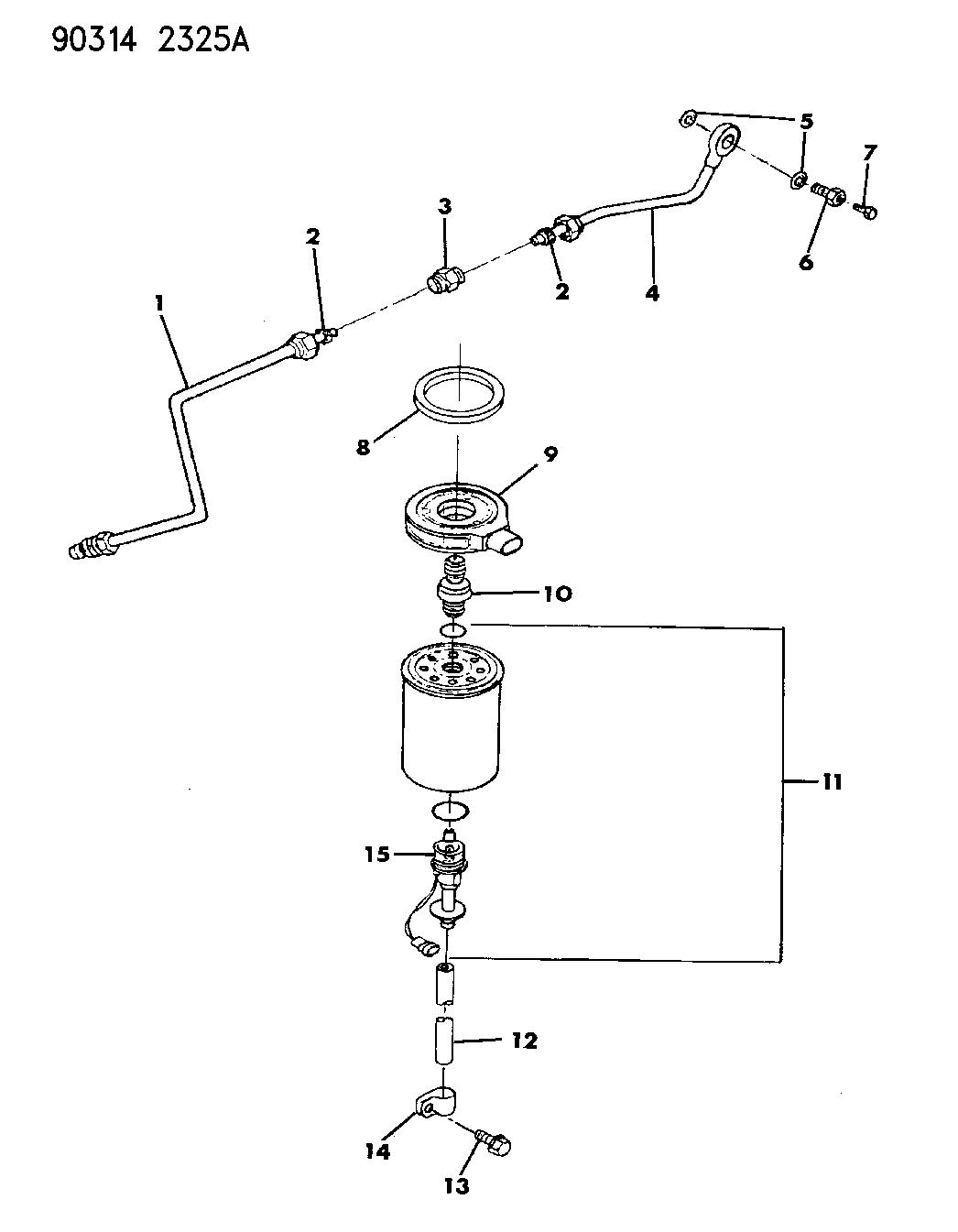 1990 Dodge D150 Fuel Filter