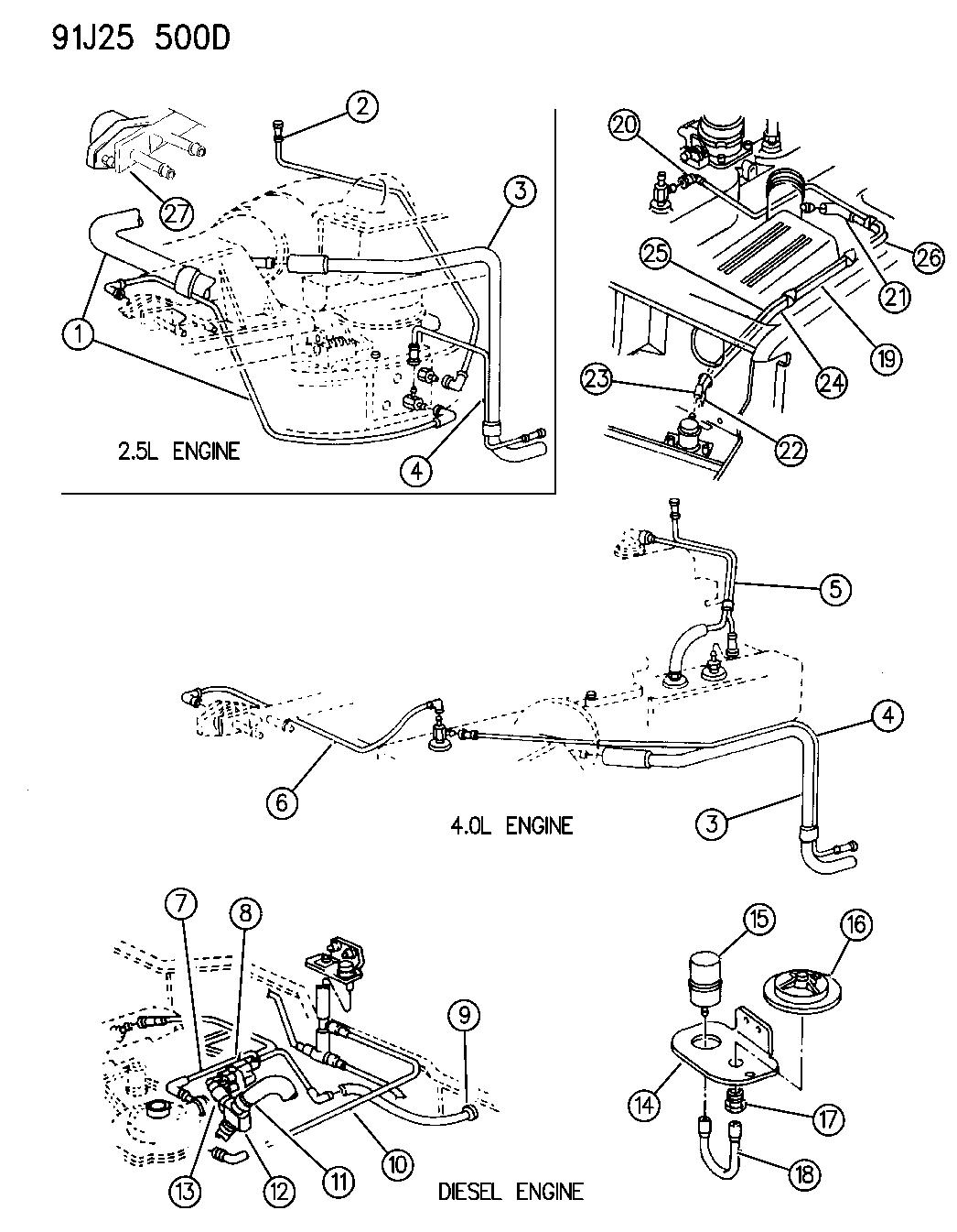 1991 Jeep Wrangler Vacuum Harness - Mopar Parts GiantMopar Parts Giant