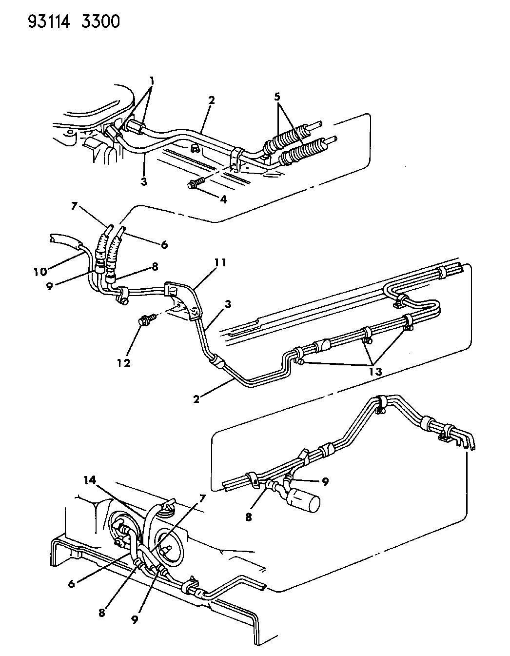 1993 Chrysler New Yorker Fifth Avenue Fuel Lines