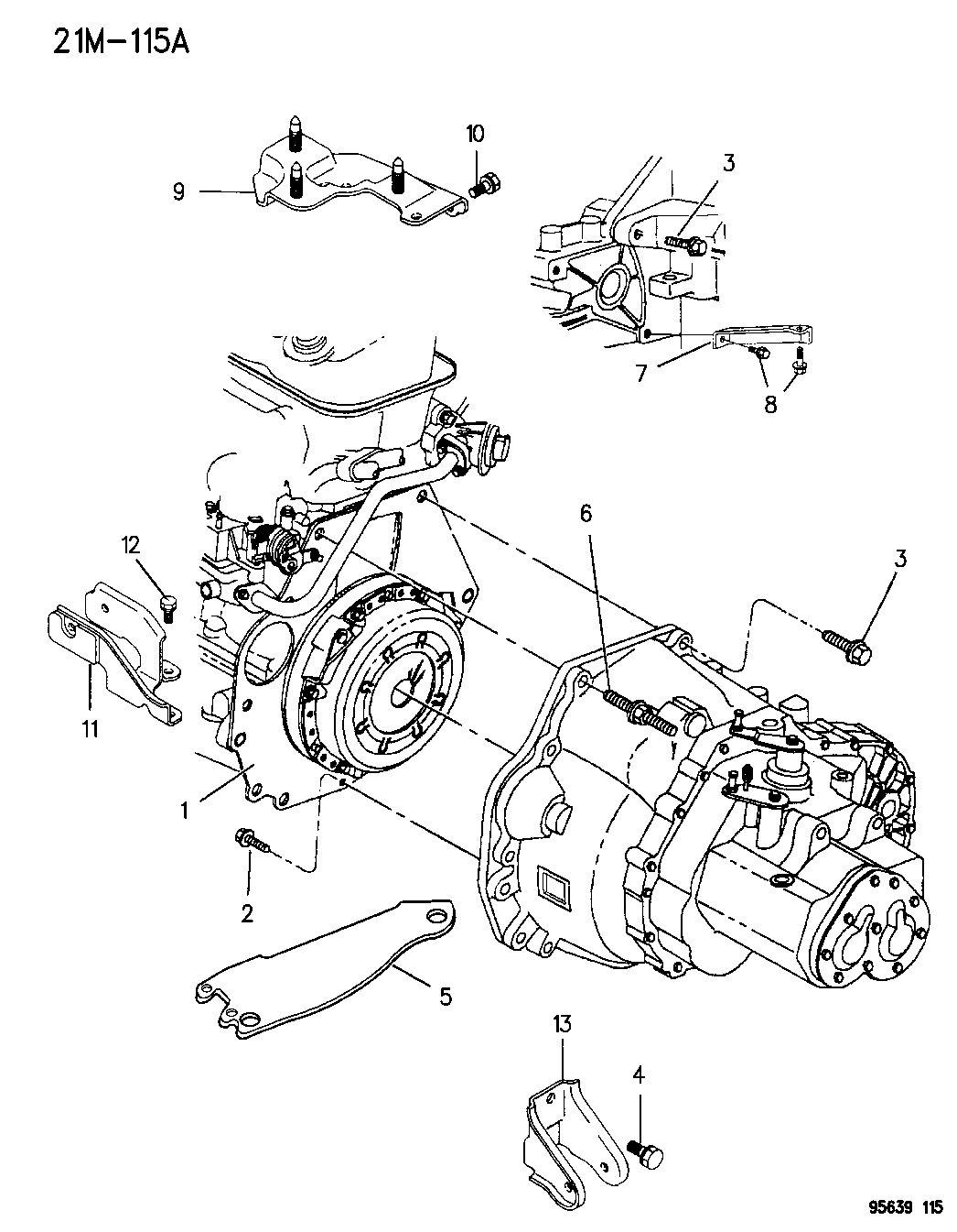 1996 Dodge Avenger Transaxle Mounting Mopar Parts Giant Engine Diagram